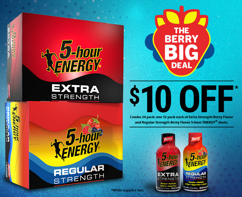 The Berry Big Deal Pack - 2x 12-packs of 5-hour ENERGY shots for $10 off