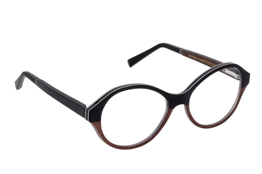 ALEXIA 01, Gold & Wood glasses, luxury, opthalmic eyeglasses