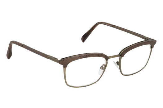 CHELSEA 01 Gold & Wood glasses, luxury, opthalmic eyeglasses