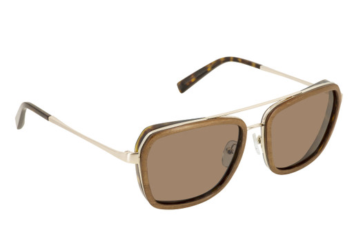 HOMAN 01 SUN, Gold & Wood glasses, luxury, opthalmic eyeglasses