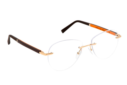 Gold & Wood glasses, luxury, opthalmic eyeglasses