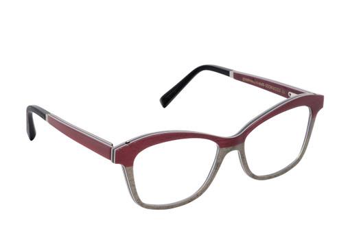 MELISSA 01, Gold & Wood glasses, luxury, opthalmic eyeglasses