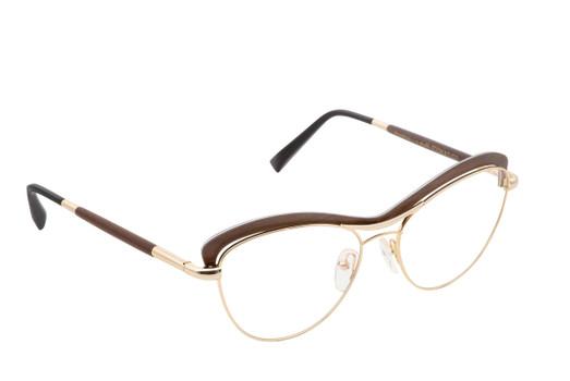 STELA 02, Gold & Wood glasses, luxury, opthalmic eyeglasses