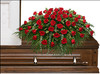 Majestic Red Casket Spray