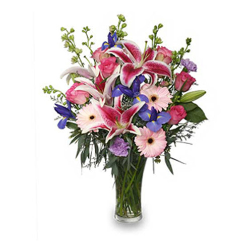 ENJOY YOUR DAY BOUQUET - Vased Florist Created Arrangement by Dragonfly Flowers