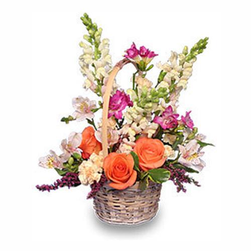 Fresh Breeze Flower Basket