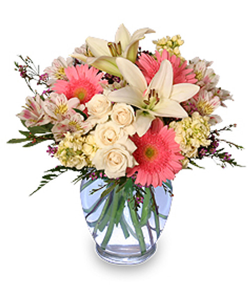 WELCOME BABY GIRL Flower Arrangement