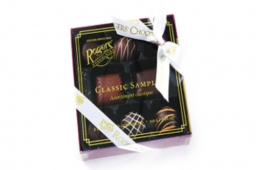 Classic Sampler - 8 Piece A delicious introduction to our Rogers' Classics line.  Truffles, caramels, and Victoria cream mini's.  3.88oz/110g
