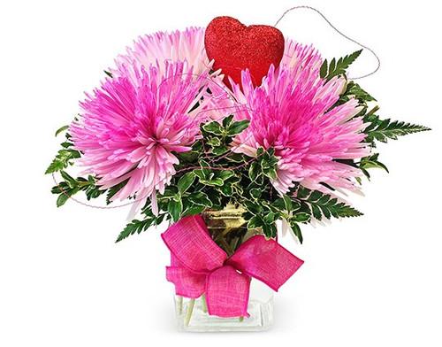 VD28 Pink Romance Valentine's Day Arrangement