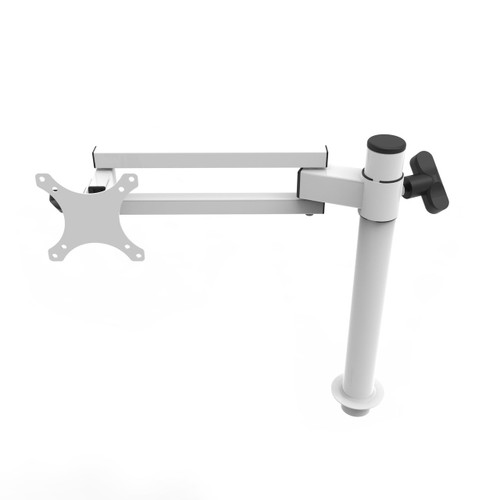 White Single Spider Arm Monitor Mount