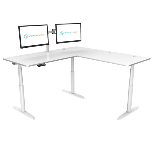 PowerLift L-Shaped Standing Desk