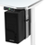 Adjustable CPU Holder mounted to Power Lift Sit-to-Stand Desk System