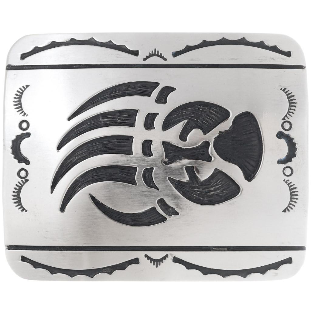Bear Claw Paw Print Western Metal Fashion Belt Buckle