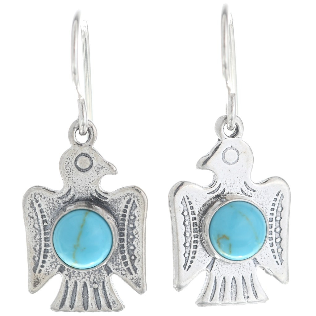 Thunderbird with Gemstone Accents Earrings