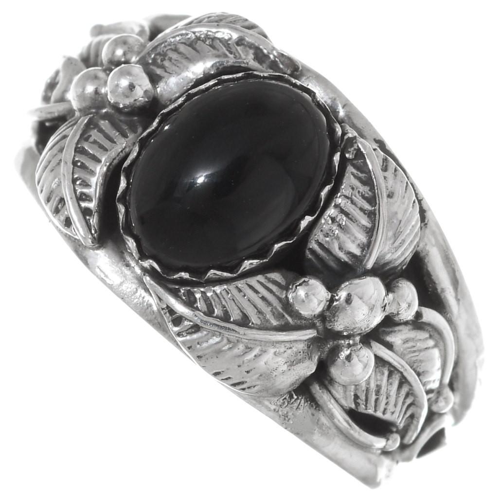 Native American Black Onyx Sterling Bracelet Native American Sterling Bracelet Gift