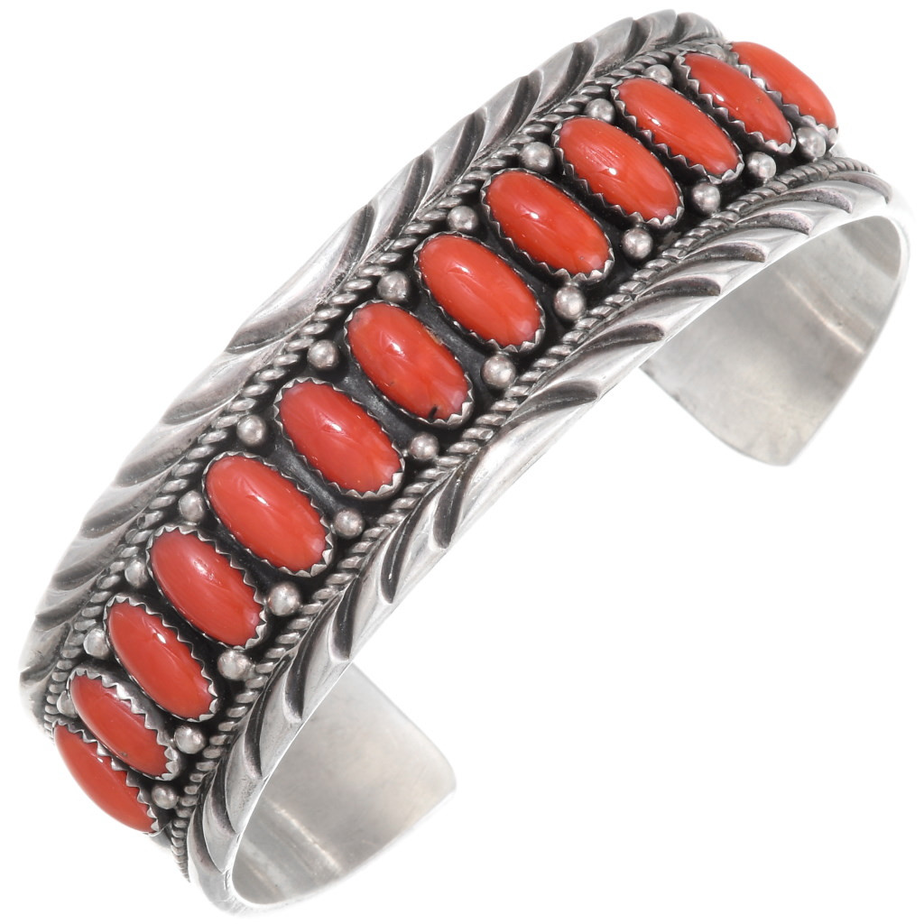Vintage Sterling Silver Twisted Wire Opal /& Coral Ring
