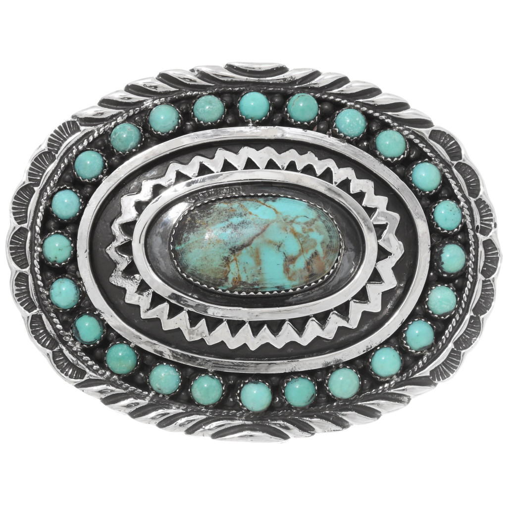 Southwest X Design Native American Turquoise Hand painted Belt Buckle western