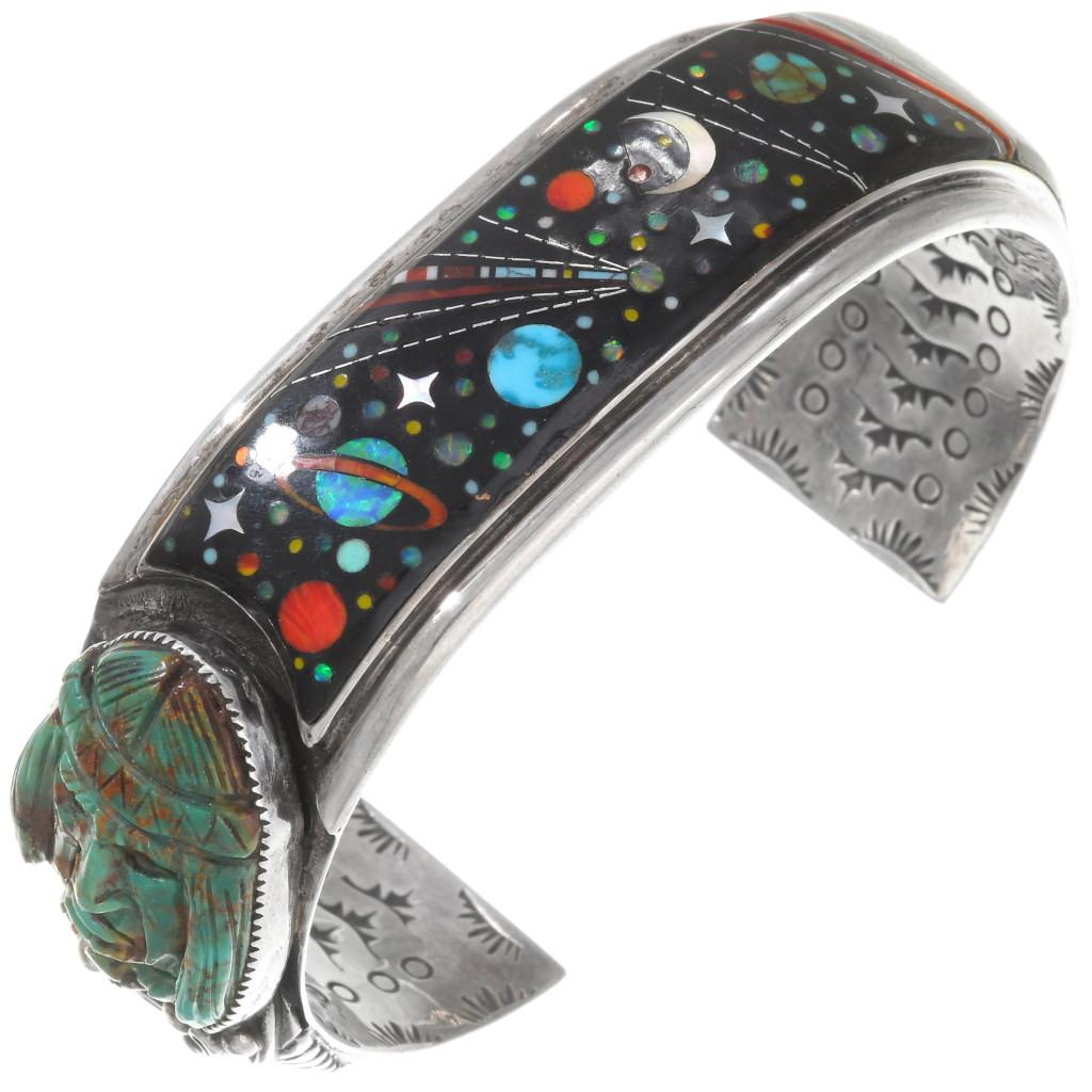 1800s Inlaid Button Bracelet