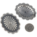Hammered Silver Navajo concho Earrings 24424