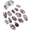 Three Stone White Buffalo Cuff Bracelet 23655
