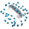 Navajo Made Sleeping Beauty Turquoise Nugget Bracelet 24721