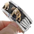 Silver Gold Southwest Bear Cuff 25906