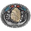 Native American Chief Belt Buckle 15212