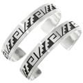 Overlaid Sterling Southwest Cuff Bracelet 23595