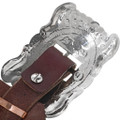 Navajo Hammered Silver Buckle 16832