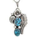 Navajo Turquoise Pendant With Chain 26439