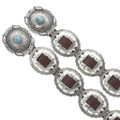 Turquoise Silver Western Concho Belt 24557