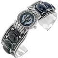 Onyx Silver Unisex Watch Cuff 23051