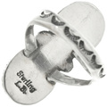 Sterling Silver Ladies Traditional Ring 20046