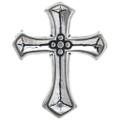 Sterling Silver Cross Charm 35443