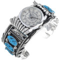 Ladies Turquoise Cuff Watch 24426