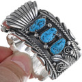 Turquoise Silver Watch Bracelet 24426