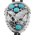 Turquoise Silver Bolo Tie 23283