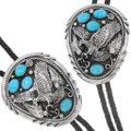 Hand Crafted Native American Turquoise Bolo Tie 23283