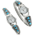 Sterling Turquoise Southwest Watch 23589