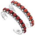 Native American Western Sterling Silver Red Coral Bracelets 23237