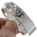 Navajo Hammered Sterling Bracelet 19280