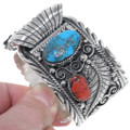 Kingman Turquoise Sterling Silver Watch Cuff 24427