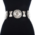 Hammered Silver Concho Belt 14906