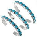 Navajo Turquoise Silver Unisex Cuff 22773