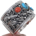 Turquoise Silver Native American Cuff Bracelet 18057