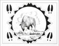 Plains Indian Buffalo and Calf Print 21114