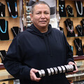 Authentic Navajo Silver Bracelet Artist Jerrold Tahe 26111