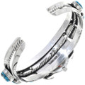 Native American Turquoise Silver Watch Cuff 24482