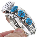 Turquoise Watch Sterling Silver Cuff 24482