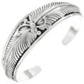 Southwest Silver Feather Cuff Bracelet 25163